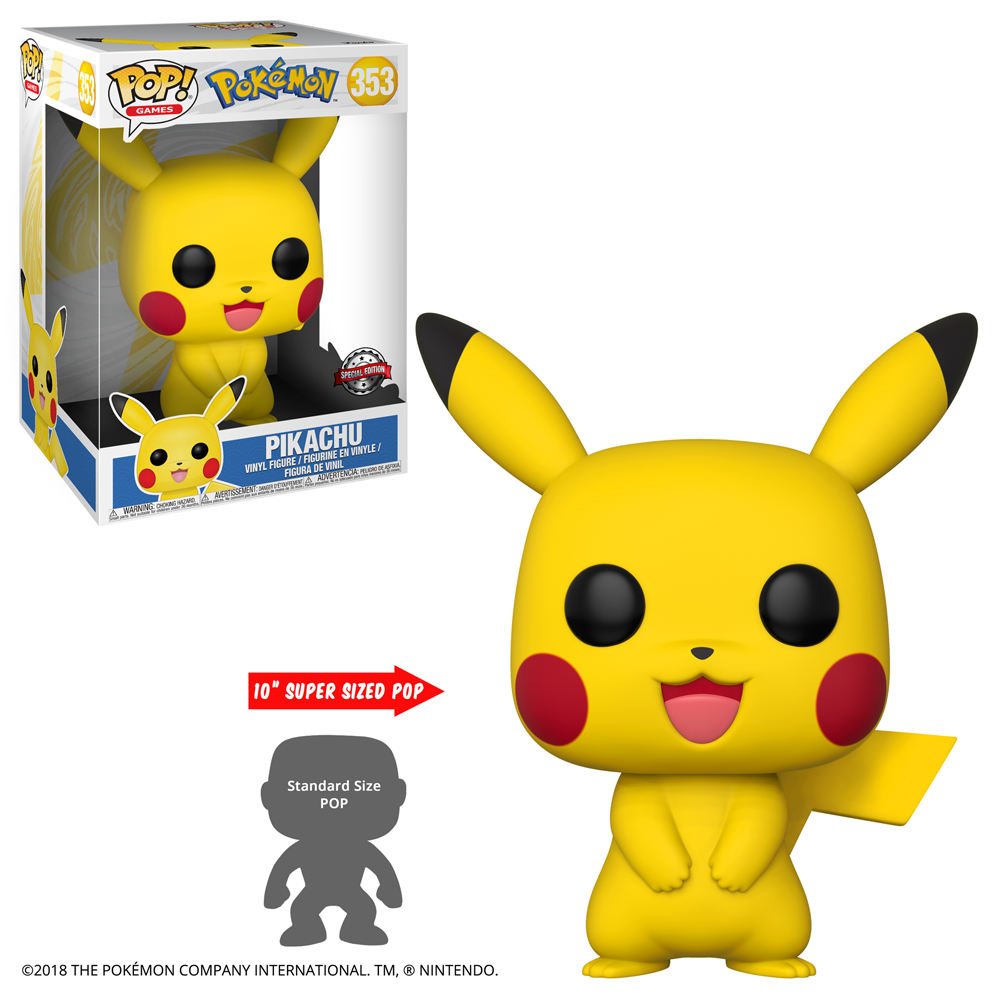 "FIGURA POP GAMES: POKEMON - 10"" PIKACHU (TR)"