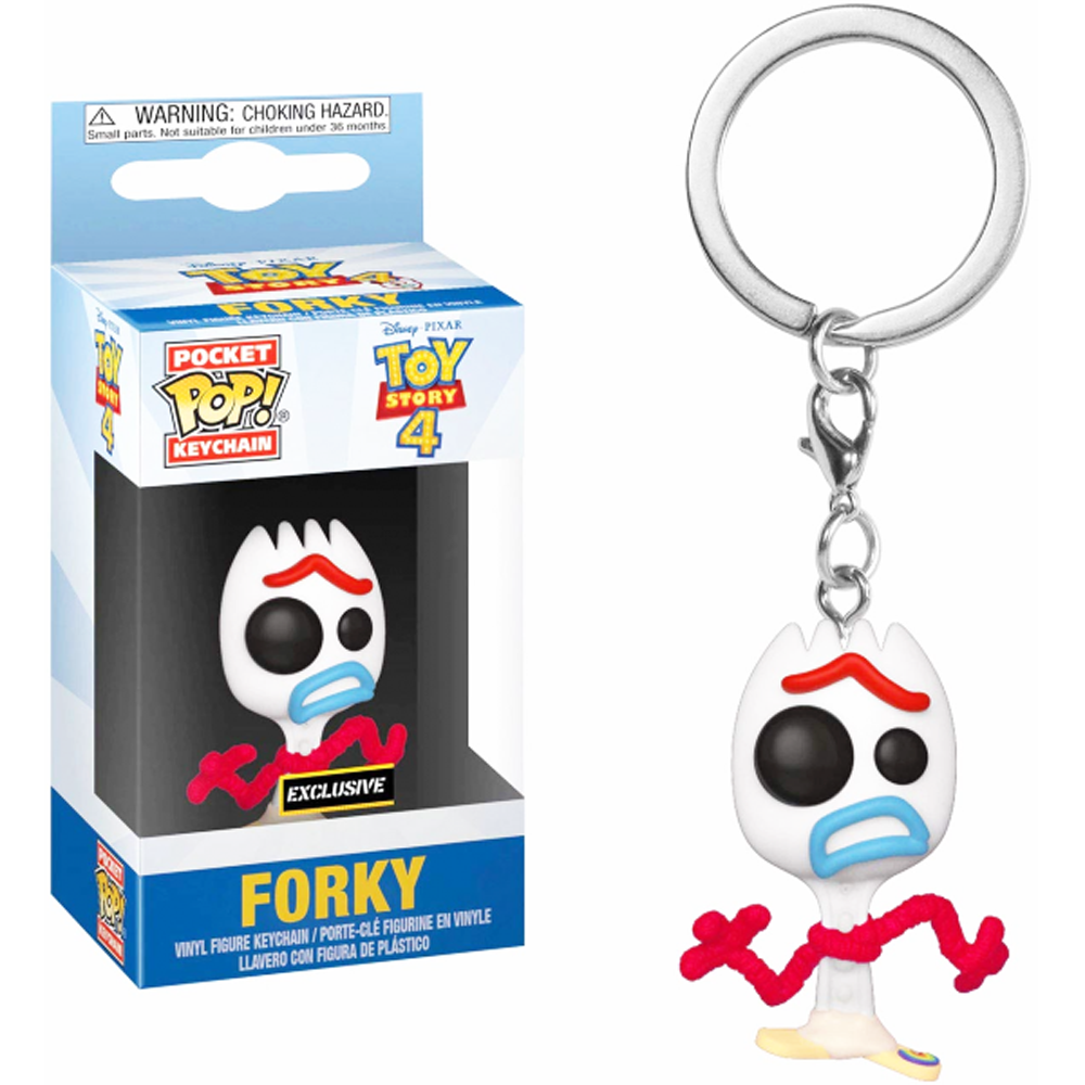 POP KEYCHAIN: TOY STORY 4 - FORKY (NEW EXPRESSION)  EXCLUSIVE