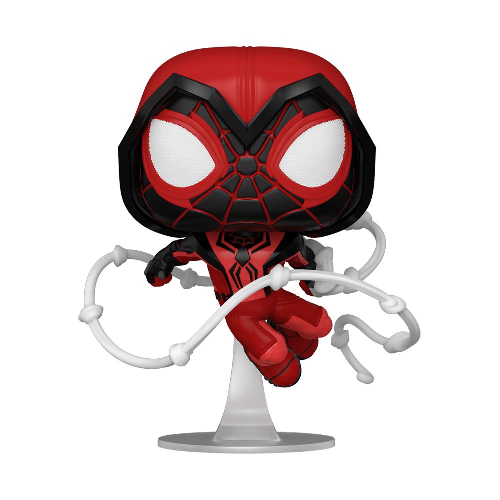 FIGURA POP GAMES: MILES MORALES - CRIMSON COWL SUIT