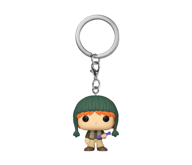 FIGURA POP KEYCHAIN: HP HOLIDAY -RON