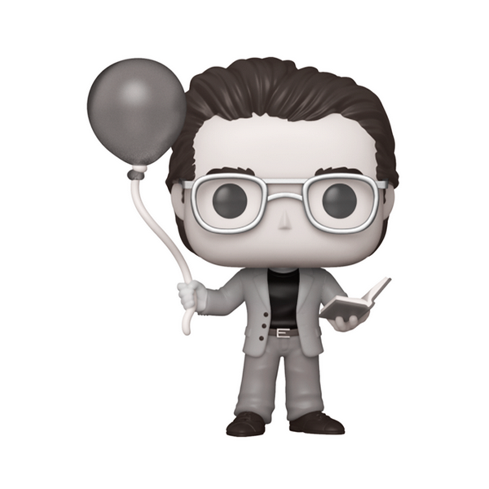 FIGURA POP ICONS: STEPHEN KING WITH RED BALLOON BLACK AND WHITE