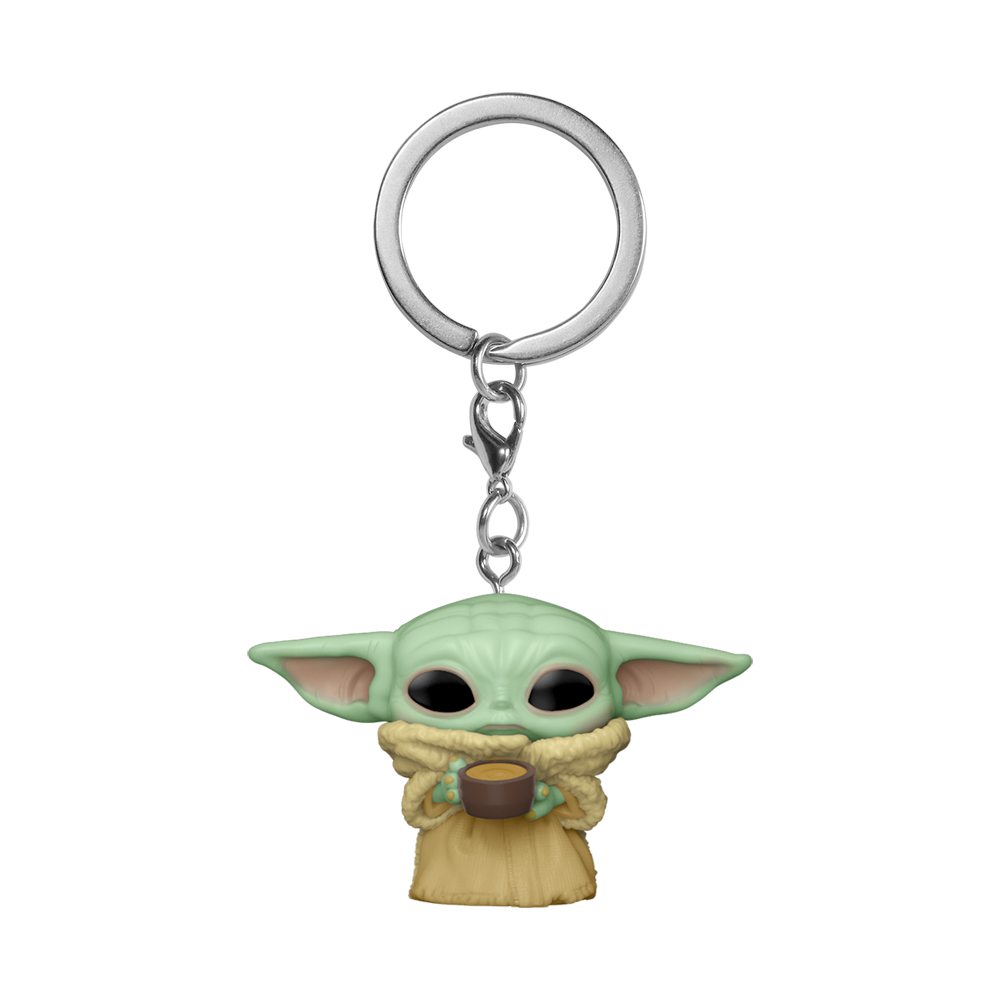 POP KEYCHAIN: THE MANDALORIAN -THE CHILD W/CUP