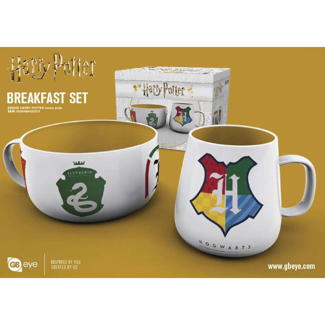 HARRY POTTER PACK DESAYUNO HOUSE PRIDE