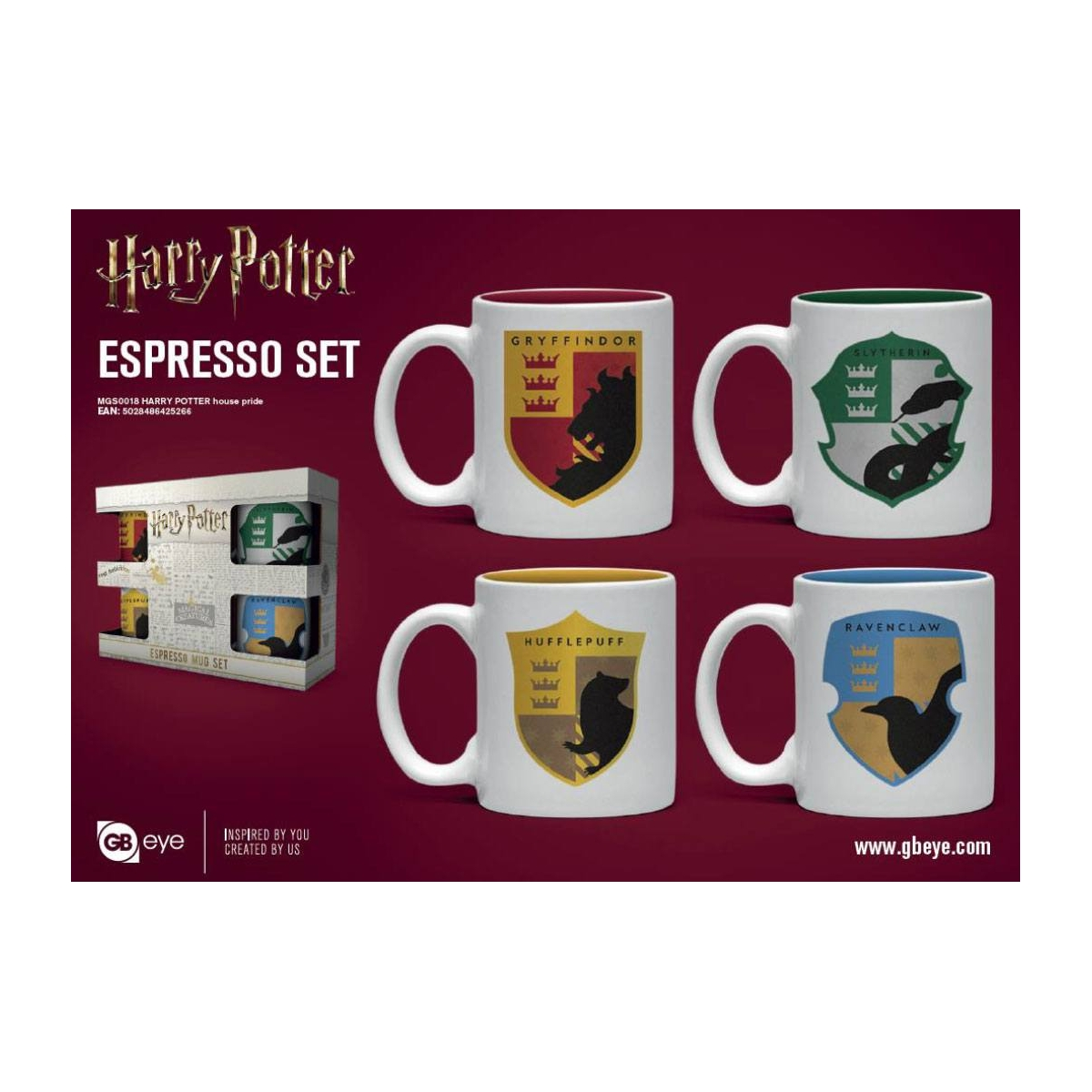 HARRY POTTER PACK DE 4 TAZAS ESPRESSO HOUSEPRIDE