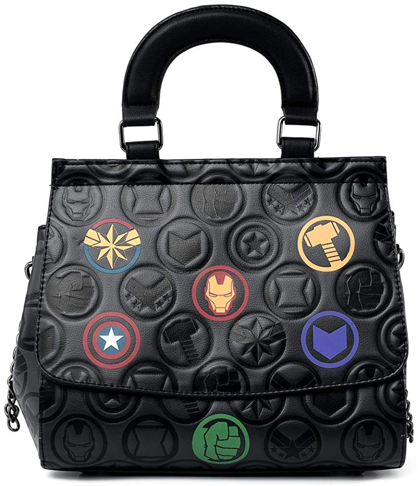 BOLSO LOUNGEFLY MARVEL: AVENGERS ICONS DEBOSSED