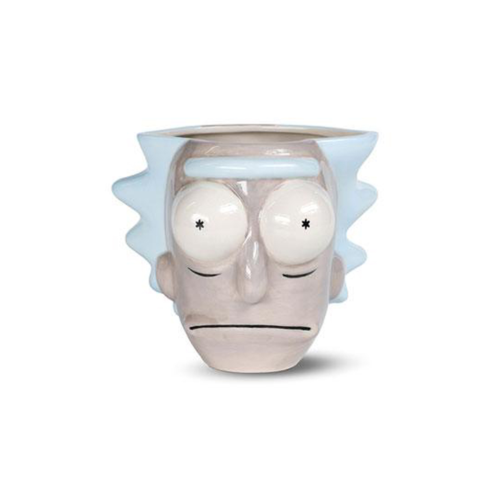 RICK Y MORTY TAZA SHAPED 3D RICK HEAD