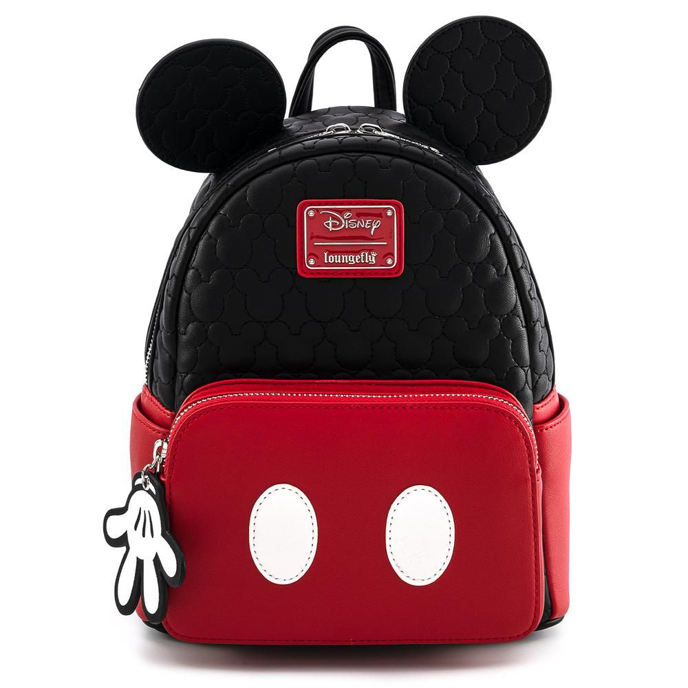 MINI MOCHILA LOUNGEFLY DISNEY: MICKEY MOUSE QUILTED OH BOY