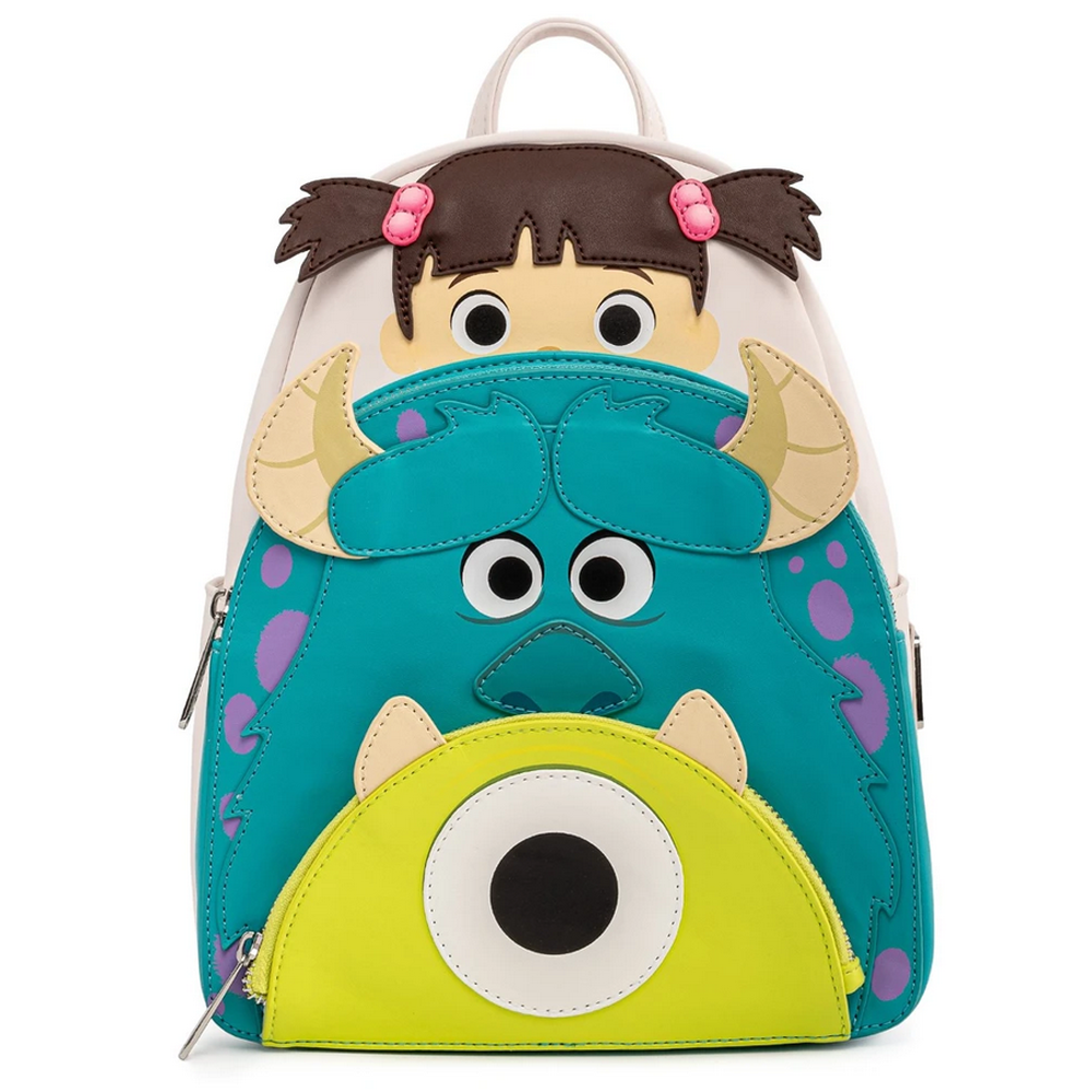 MINI MOCHILA LOUNGEFLY PIXAR: MONSTERS INC BOO MIKE SULLY COSPLAY