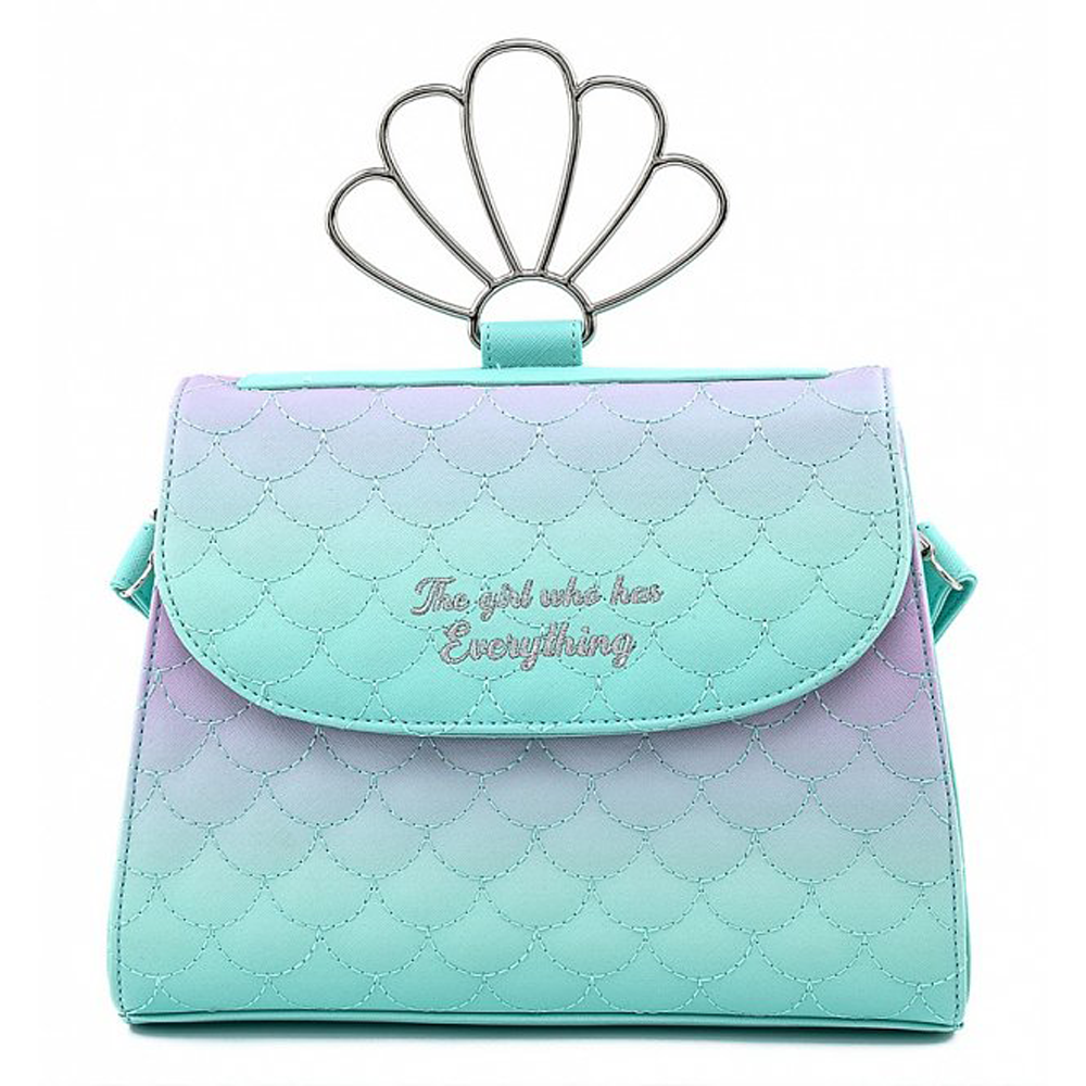 BOLSO LOUNGEFLY DISNEY: LITTLE MERMAID OMBRE SCALES SHELL HANDLE