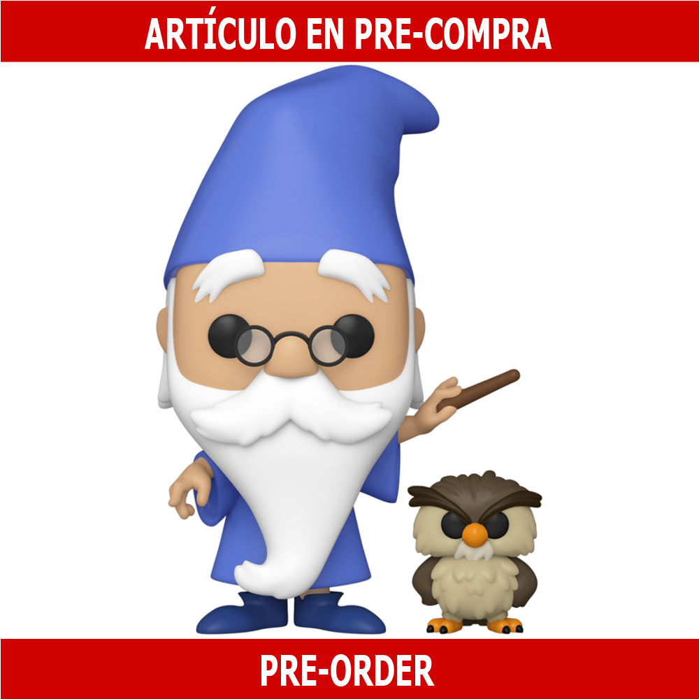 PRE-COMPRA - POP DISNEY: SITS - MERLIN WITH ARCHIMEDES