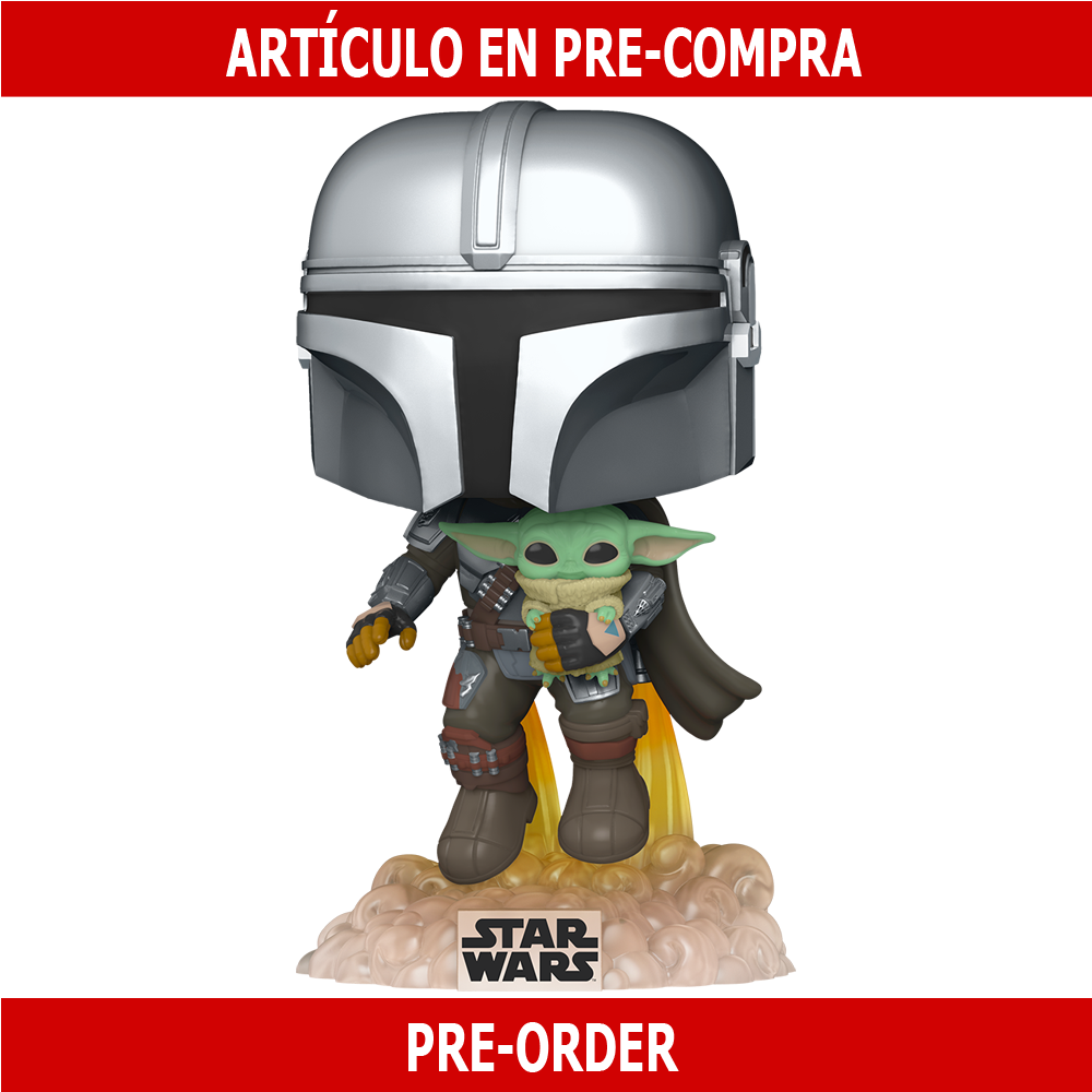 PRE-COMPRA - POP STAR WARS:THE MANDALORIAN -MANDO FLYING W/JET PACK