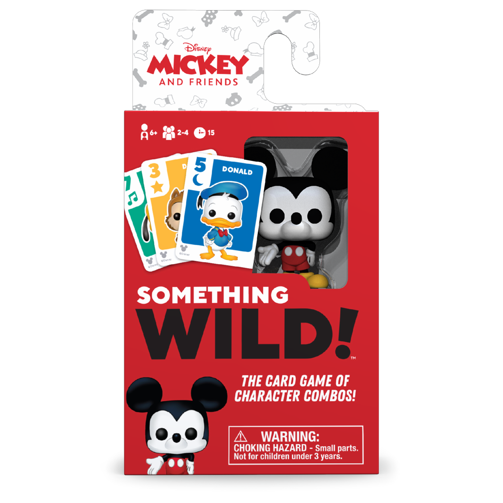 SOMETHING WILD CARD GAME - MICKEY AND FRIENDS  (CASTELLANO/ALEMAN/ITALIANO)