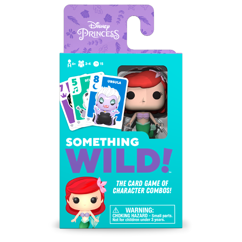 SOMETHING WILD CARD GAME - THE LITTLE MERMAID  (CASTELLANO/ALEMAN/ITALIANO)