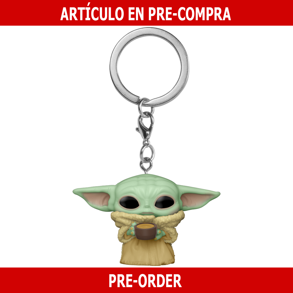 PRE-COMPRA - POP KEYCHAIN: THE MANDALORIAN -THE CHILD W/CUP