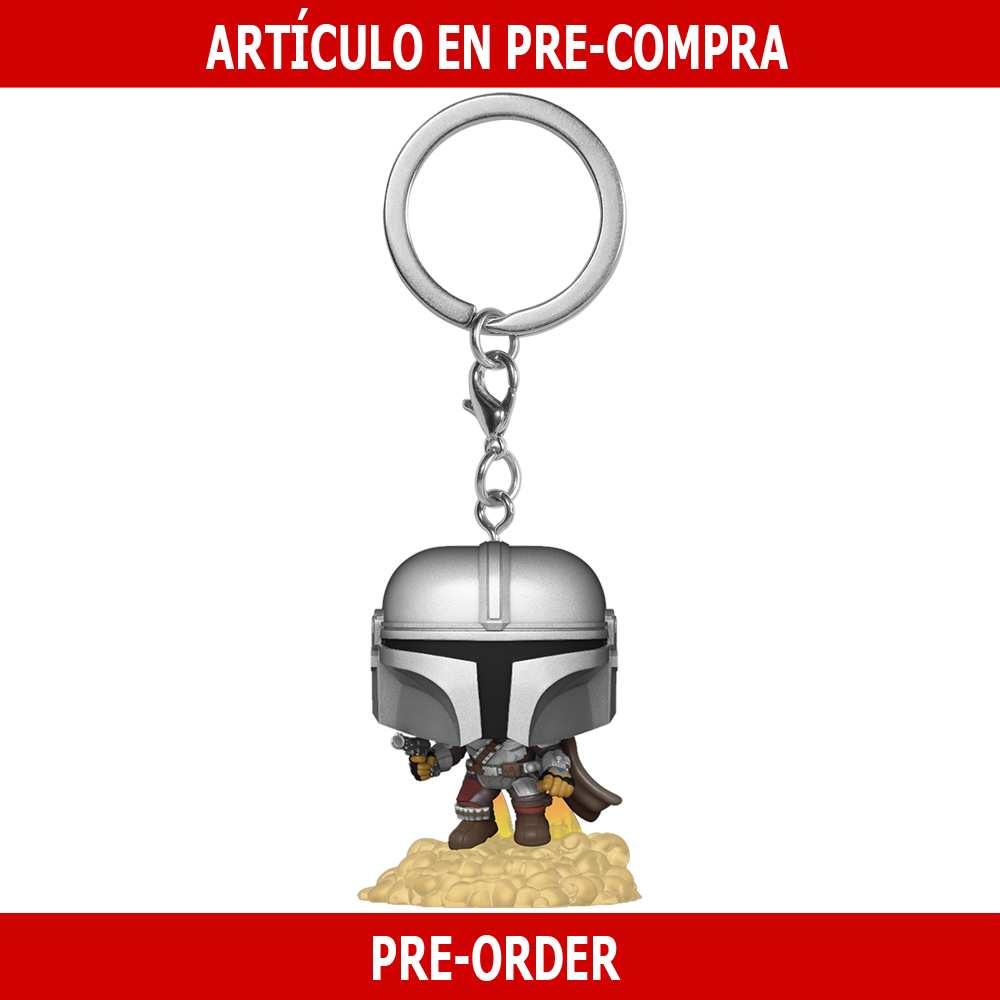 PRE-COMPRA - POP KEYCHAIN: THE MANDALORIAN -THE MANDALORIAN FLYING