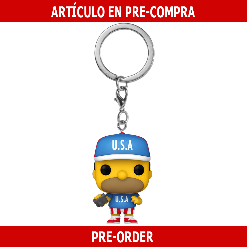 PRE-COMPRA - POP KEYCHAINS: SIMPSONS - USA HOMER
