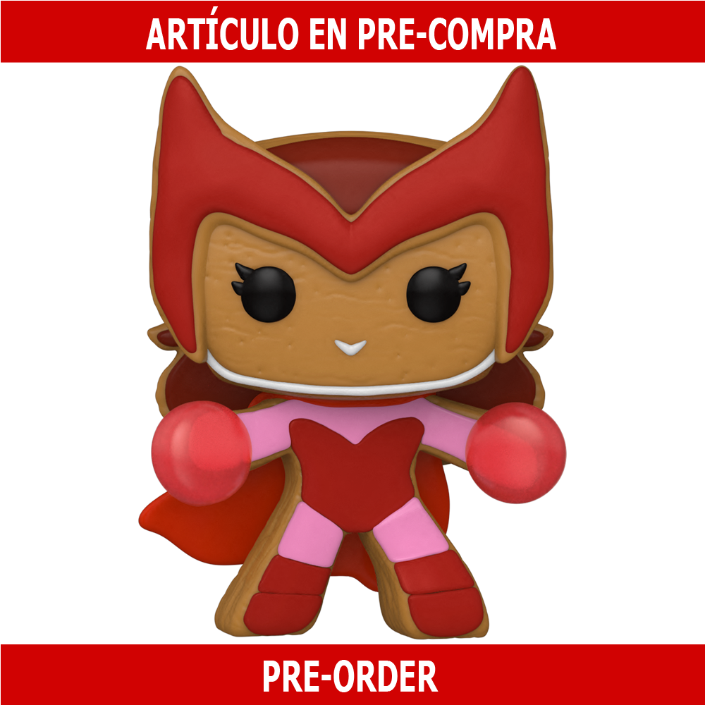 PRE-COMPRA - POP MARVEL: HOLIDAY- GINGERBREAD SCARLET WITCH