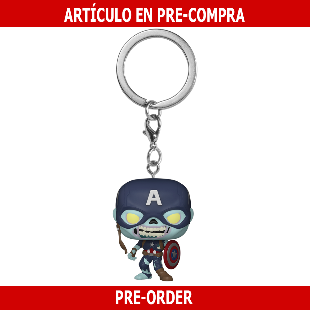 PRE-COMPRA - POP KEYCHAIN: WHAT IF - ZOMBIE CAPTAIN AMERICA