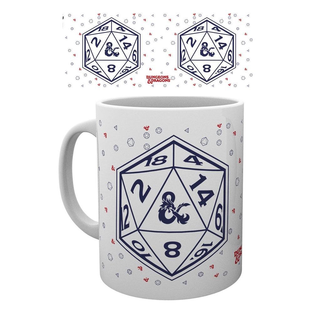 DUNGEONS AND DRAGONS TAZA D20