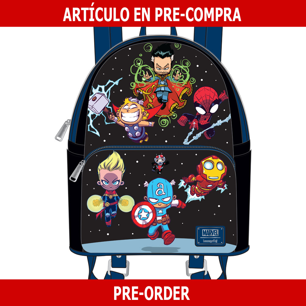 PRE-COMPRA - MINI MOCHILA LOUNGEFLY MARVEL: SKOTTIE YOUNG CHARACTERS