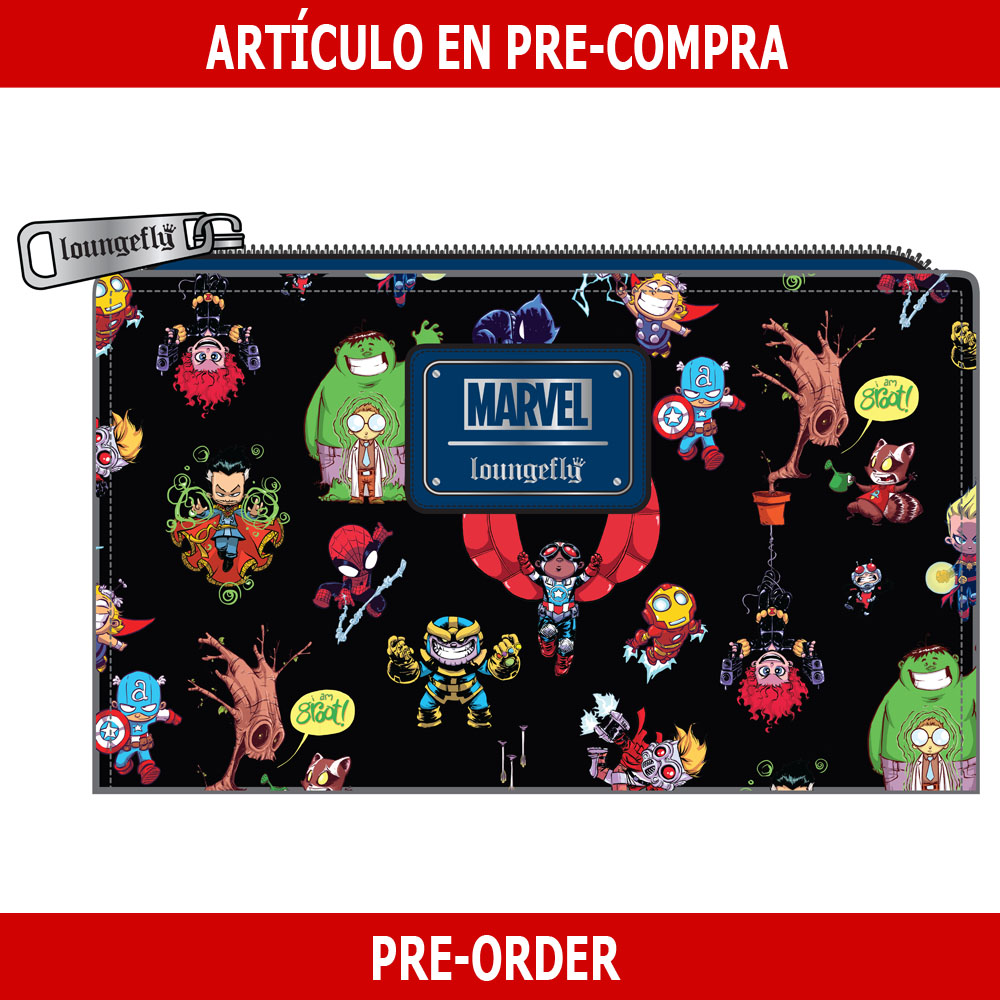 PRE-COMPRA - CARTERA LOUNGEFLY MARVEL: SKOTTIE YOUNG CHARACTERS
