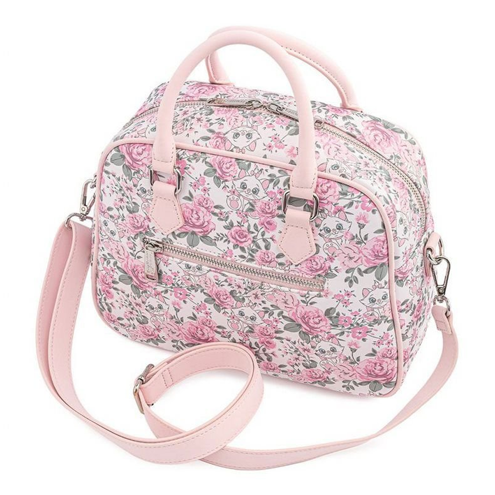 PRE-COMPRA - BOLSO LOUNGEFLY DISNEY: ARISTOCATS MARIE FLORAL AOP