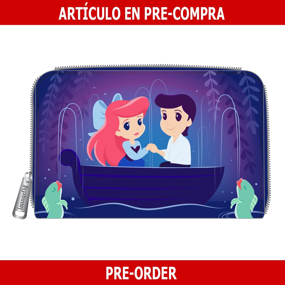 PRE-COMPRA - CARTERA LOUNGEFLY DISNEY: LITTLE MERMAID GONDOLA SCENE